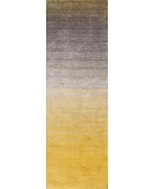 "Ombre Shag HJOS01A Yellow 2'6"" x 8' Runner Rug"