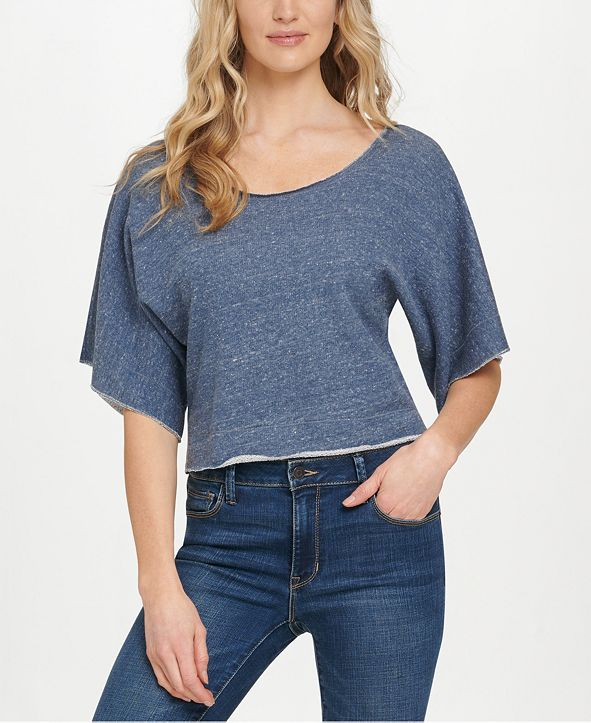 DKNY Jeans Off-The-Shoulder Cotton Top