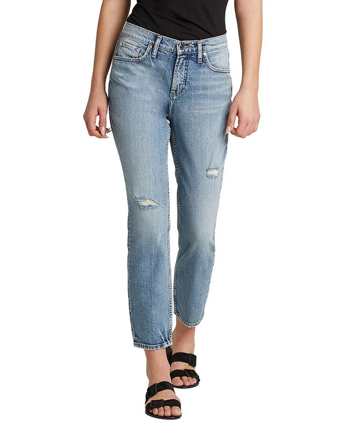 Silver Jeans Co. - Distressed Not Your Boyfriend's Jeans