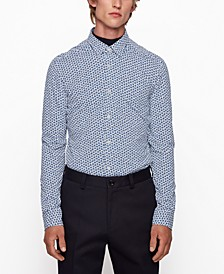 BOSS Men's Ronni Floral-Print Slim-Fit Shirt