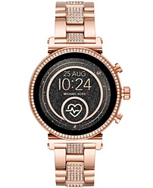 Access Women's Gen 4 Sofie  Rose Gold-Tone Stainless Steel Bracelet Touchscreen Smart Watch 41mm, Powered by Wear OS by Google™