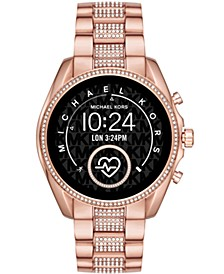 Access Gen 5 Bradshaw Pavé Rose Gold-Tone Stainless Steel Bracelet Touchscreen Smart Watch 44mm