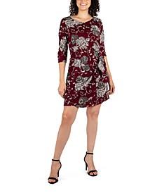 Petite Paisley-Print Sarong Dress
