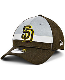 New Era Men's San Diego Padres Striped Shadow Tech 39THIRTY Cap