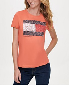 Cotton Floral Flag T-Shirt, Created for Macy's