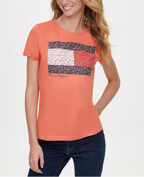 Tommy Hilfiger Cotton Floral Flag T-Shirt, Created for Macy's