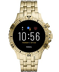 Men's Gen 5 HR Gold-Tone Stainless Steel Bracelet Touchscreen Smart Watch 46mm