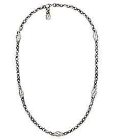 "Interlocking G Motif  23-1/2"" Chain Necklace in Sterling Silver"