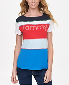 Cotton Colorblocked Logo T-Shirt, Created for Macy's