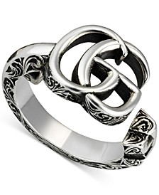 Double G Filigree Cuff Ring in Sterling Silver