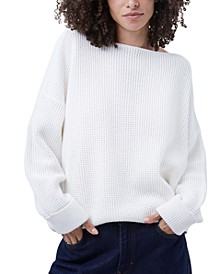 Millie Mozart Cotton Waffle-Knit Sweater