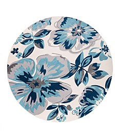 """Haven 9098 Turquoise 6'6"""" Round Area Rug"""