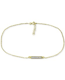 Cubic Zirconia Bar Ankle Bracelet, Created for Macy's
