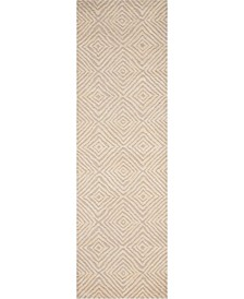 "Deco Mod DEC01 Taupe 2'3"" x 7'6"" Runner Rug"