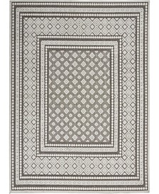 "Key Largo KLG02 Silver 5'3"" x 7'3"" Area Rug"