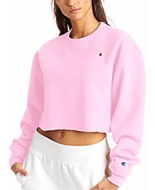 Women's Reverse Weave Cut-Off Cropped Sweatshirt