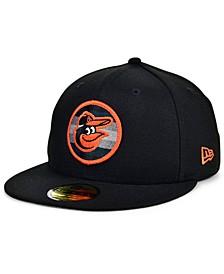 Baltimore Orioles Circle Fade 59FIFTY Cap