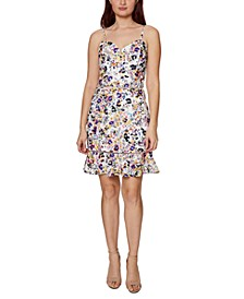 Floral-Print Sheath Dress