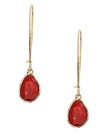 Gold-Tone Stone Linear Drop Earrings, Created for Macy's