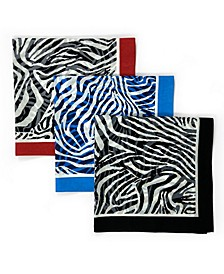 Unisex Bandana Zebra, Pack of 3