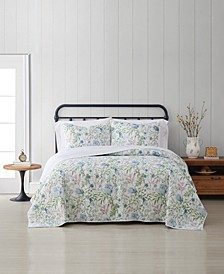 Field Floral 3 Piece Quilt Set