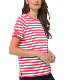 Michael Michael Kors Striped Roll-Sleeve Shirt