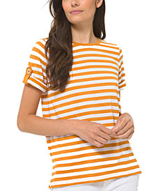 Michael Michael Kors Striped Roll-Sleeve Shirt