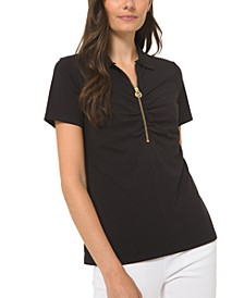 Zipper Polo Shirt
