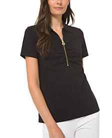 Michael Michael Kors Zipper Polo Shirt