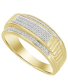 Men's Diamond (1/5 ct. t.w.) Ring in 10K Yellow Gold