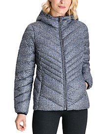 Leopard Hooded Packable Down Puffer Coat, Created for Macy's