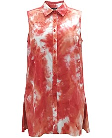 Tie-Dye Sleeveless Blouse, Created for Macy's