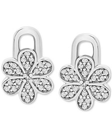 Diamond Flower Earring Charms (1/10 ct. t.w.) in Sterling Silver