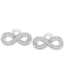 Diamond Infinity Earring Charms (1/10 ct. t.w.) in Sterling Silver