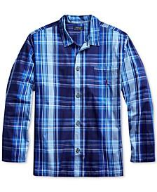 Men's Plaid Woven Pajama Top