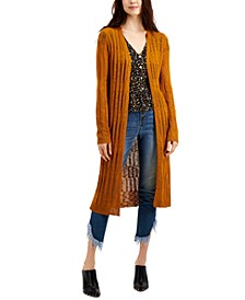 Juniors' Pointelle Duster Cardigan