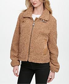 Fleece Moto Teddy Coat