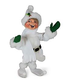 9in Very Merry White Elf