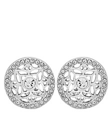 Filagree Button Clip Earring