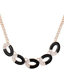 Frosted Lucite Statement Necklace
