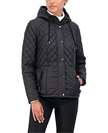 Sebby Juniors' Hooded Quilted Water-Resistant Coat