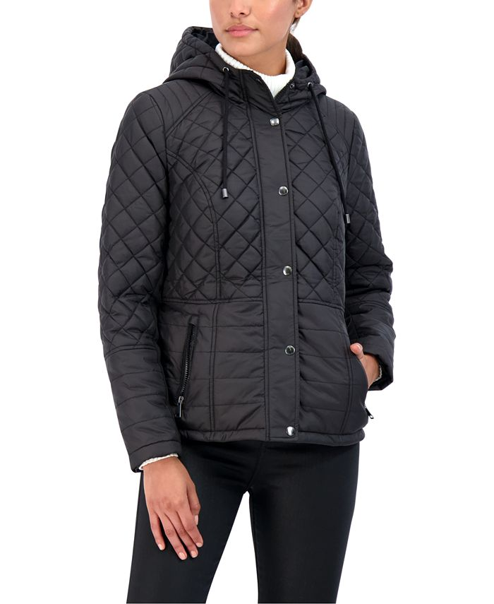 Sebby - Juniors' Hooded Quilted Coat