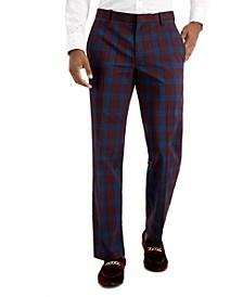 INC Men's Slim-Fit Plaid Dress Pants, Created for Macy's