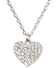 "Gold-Tone Crystal Heart Pendant Necklace, 16"" + 3"" extender"