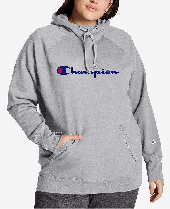 Champion Powerblend Plus Size Logo Hoodie