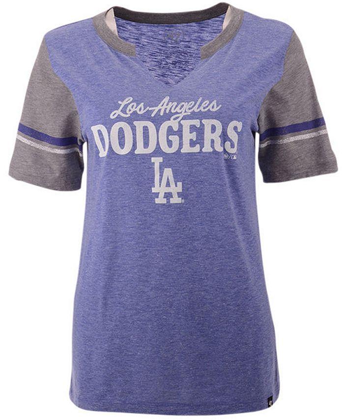 '47 Brand - Women's Los Angeles Dodgers Match Notch T-Shirt