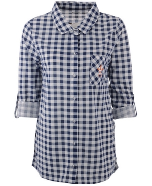 Concepts Sport Women's Houston Astros Wanderer Plaid Shirt