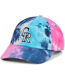 Women's Colorado Rockies Tie Dye Adjustable Cap