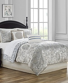 CLOSEOUT! Lynne Reversible Queen 4 Piece Comforter Set