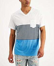 Men's Lido Striped Colorblocked T-Shirt, Created for Macy's